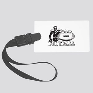 Personalized Football Player Large Luggage Tag